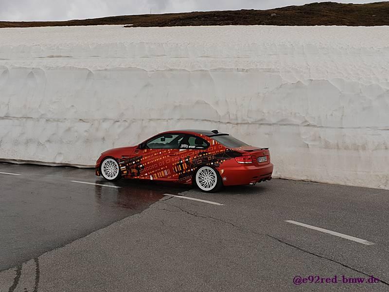 Mit AP-Gewinde im 3er BMW in den Alpen